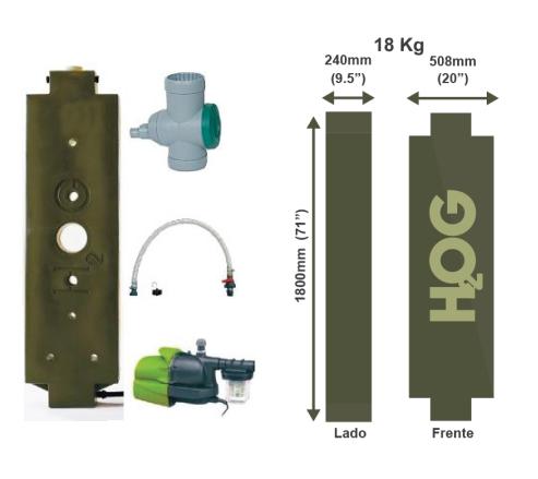 Sistema modular de captación de agua pluvial